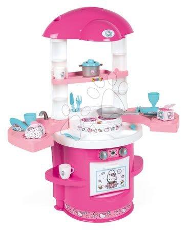 Obyčejné kuchyňky - Kuchyňka pro nejmenší Hello Kitty Cooky Smoby s 17 doplňky od 18 měsíců