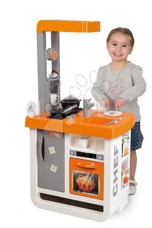 Obyčejné kuchyňky - Set kuchyňka Bon Appétit Chef Smoby s chladničkou a kávovarem a vozík se snídaní 100% Chef_1