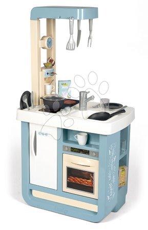 Detské kuchynky - Kuchynka so zvukom Bon Appetit Kitchen Grey Smoby s rúrou na pečenie a chladnička s 23 doplnkami