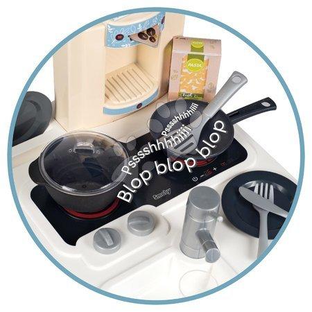 Detské kuchynky - Kuchynka so zvukom Bon Appetit Kitchen Grey Smoby s rúrou na pečenie a chladnička s 23 doplnkami_1