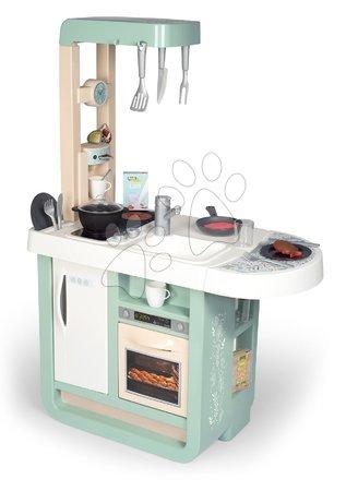 Detské kuchynky - Kuchynka so zvukmi Cherry Kitchen Green Smoby s jedálenským stolom rúrou a chladnička s 25 doplnkami