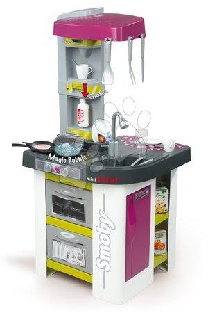 Kuchynka pre deti Tefal Studio BBQ Bublinky Smoby elektronická s magickým bublaním a grilom a 26 doplnkami zeleno-fialová