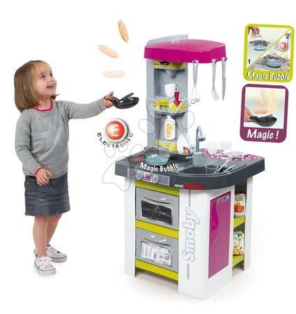 Detské kuchynky - Kuchynka Tefal Studio Bubble Smoby elektronická s magickým bublaním a sódovačom s 26 doplnkami fialovo-zelená_1