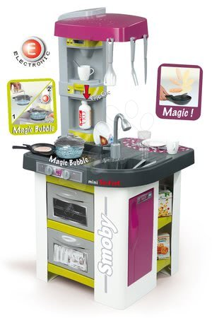 Kuchyňka Tefal Studio Bubble elektronická Smoby s magickým bubláním, přístrojem na sodu s 26 doplňky