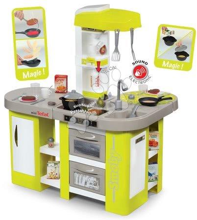 Kuhinja Tefal Studio XL Smoby električna s čarobnom tjesteninom, kolom, aparatom za kavu i 36 dodataka zelena
