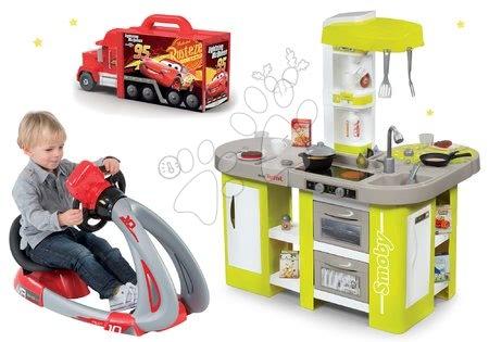 Set bucătărie electronică Tefal Studio XL Smoby kiwi cu sunete și simulator, camion Maşini 3 Mack Truck