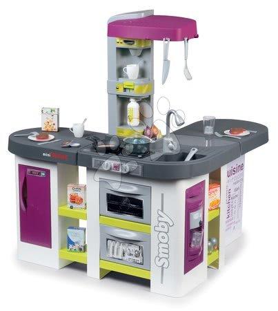 Detské kuchynky - Kuchynka elektronická Tefal Studio XXL Bubble Smoby s magickým bublaním sódovačom a ľadom a 38 doplnkov