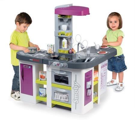 Detské kuchynky - Set kuchynka elektronická Tefal Studio XXL Bubble Smoby s magickým bublaním a raňajkový set s kávovarom a toasterom_1