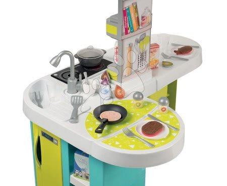 Detské kuchynky - Kuchynka Tefal Studio XL Bubble Smoby elektronická s magickým bublaním tyrkysová a 34 doplnkov_1