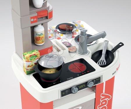 Detské kuchynky - Kuchynka elektronická Tefal Studio 360° Smoby terakota s kuchynskými zvukmi magickými potravinami a 27 doplnkov_1