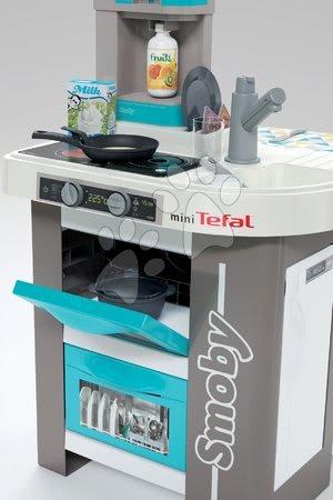 Detské kuchynky - Kuchynka elektronická Tefal Studio 360° Bubble Smoby tyrkysová s magickým bublaním a 28 doplnkov_1