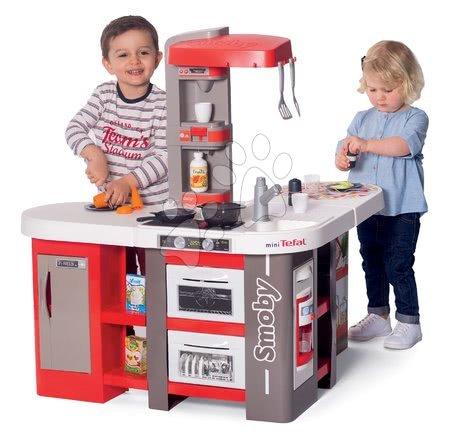 Detské kuchynky - Kuchynka elektronická Tefal Studio 360° XXL Bubble Smoby mrkvová s magickým bublaním ľadom a cestoviny s mrkvou a 39 doplnkov_1