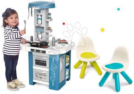 Detské kuchynky - Set kuchynka s technickým vybavením Tech Edition Smoby elektronická s dvomi stoličkami