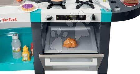 Elektronické kuchynky - Set kuchynka elektronická Tefal French Touch Bubble Smoby s magickým bublaním a servírovací vozík s raňajkami 100% Chef_1