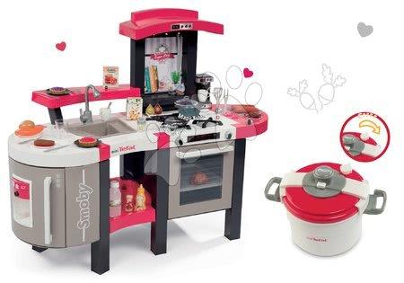 Set kuchynka Tefal SuperChef Smoby s grilom a kávovarom a tlakový hrniec Tefal