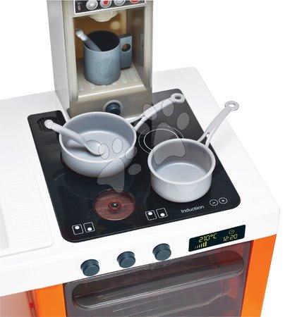 Detské kuchynky - Kuchynka Tefal Cheftronic Orange Smoby elektronická so zvukom a svetlom a 20 doplnkov 62 cm vysoká_1