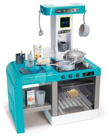 Detské kuchynky - Kuchynka Cheftronic Bubble Blue Smoby elektronická s bublaním svetlom a zvukmi a 22 doplnkov