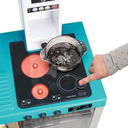 Detské kuchynky - Kuchynka Cheftronic Bubble Blue Smoby elektronická s bublaním svetlom a zvukmi a 22 doplnkov_1