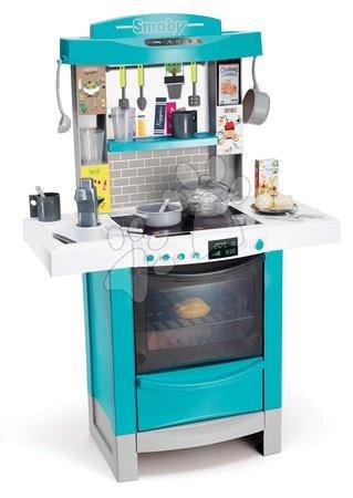 Kuchynka Cook´tronic Bubble Smoby elektronická s magickým bublaním, svetlom a zvukmi a 21 doplnkami tyrkysová