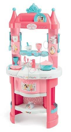Princese - Set kuhinja Princeze Smoby obostrana s tornjevima i 19 dodataka i Razigrana kuharica Chef Kuća od medenjaka s receptima i kalupima za pečenje_1