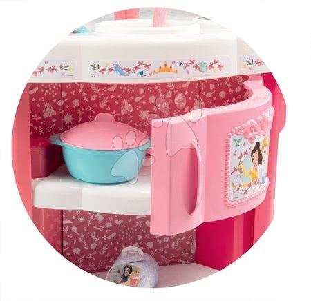 Princese - Set kuhinja Princeze Smoby obostrana s tornjevima i 19 dodataka te kozmetički stolić sa stolcem_1