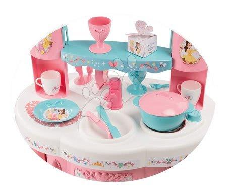 Princese - Set kuhinja Princeze Smoby obostrana s tornjevima i 19 dodataka i kozmetički stolić sa stolcem i kozmetička torbica_1