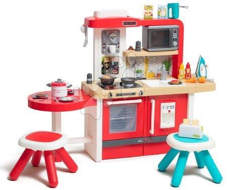 Kuhinja rastuća s tekućom vodom i mikrovalnom Tefal Evolutive Gourment Smoby s dvama stolcima i aparatima