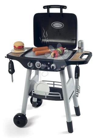 Obyčejné kuchyňky - Grill Barbecue Smoby s mechanickými funkcemi a zvukem a 18 doplňky 73 cm výška