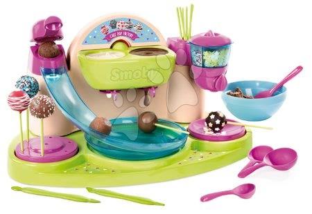 Bucătar jucăuş Chef Smoby Cofetărie cu reţete şi cu forme pentru prepararea acadelei de ciocolată de la 5 ani