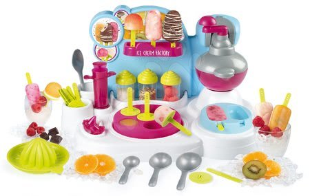 Hračky pre deti od 3 do 6 rokov - Zmrzlináreň Hravá kuchárka Chef Ice Cream Factory Smoby recepty a formy na výrobu zmrzliny a nanukov od 5 rokov