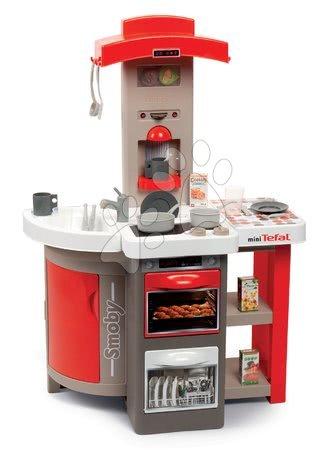 Obyčejné kuchyňky - Set kuchyňka skládací Tefal Opencook Smoby červená s kávovarem a chladničkou a se židlí a stolečkem_1