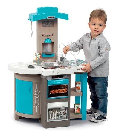 Detské kuchynky - Kuchynka skladacia Tefal Opencook Bubble Smoby modrá s magickým bublaním kávovarom chladničkou a 24 doplnkov