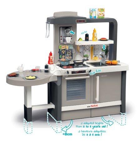 Detské kuchynky - Kuchynka rastúca s tečúcou vodou Tefal Evolutive Gourment Smoby s mikrovlnkou_1