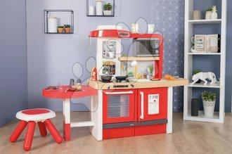 Kuchynky pre deti sety - Set kuchynka rastúca s tečúcou vodou a mikrovlnkou Tefal Evolutive Smoby a kozmetický stolík Frozen s taštičkou pre kaderníčku a potravinami_1
