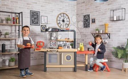 Kuchynky pre deti sety - Set reštaurácia s elektronickou kuchynkou Chef Corner Restaurant Smoby s pracovnou dielňou Black&Decker s 95 doplnkami a autíčkom_1