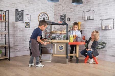 Kuchynky pre deti sety - Set reštaurácia s elektronickou kuchynkou Chef Corner Restaurant Smoby s dreveným futbalovým stolom_1