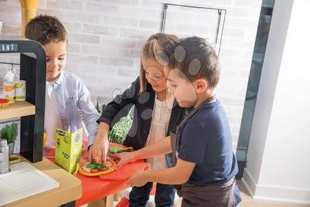 Kuchynky pre deti sety - Set reštaurácia s elektronickou kuchynkou Chef Corner Restaurant Smoby a drevený stolný futbal, biliard, hokej a tenis_1