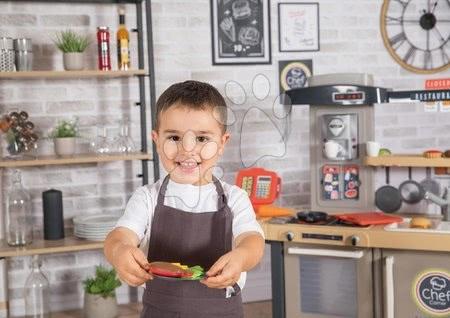 Játékkonyhák - Étterem elektronikus konyhával Chef Corner Restaurant Smoby kertéssel és mikróval_1