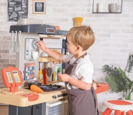 Játékkonyhák - Étterem elektronikus konyhával Chef Corner Restaurant Smoby kertben kenyérpiritóval_1
