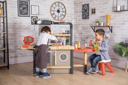Játékkonyhák - Szett étterem elektronikus konyhával Chef Corner Restaurant Smoby és 50 darabos készlet élelmiszerekből_1