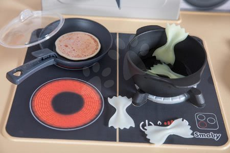 Kuchynky pre deti sety - Set reštaurácia s elektronickou kuchynkou Chef Corner Restaurant Smoby s prebaľovacím pultom Baby Nurse trojkrídlový_1