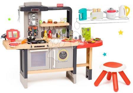 Játékkonyhák - Szett étterem elektronikus konyhácskával Chef Corner Restaurant Smoby és konyhai robotgépek Tefal