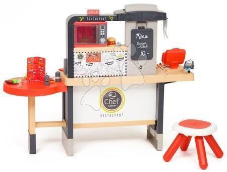 Játékkonyhák - Étterem elektronikus konyhával Chef Corner Restaurant Smoby és Tefal mikró hanggal és fénnyel_1