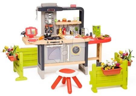 Játékkonyhák - Étterem elektronikus konyhával Chef Corner Restaurant Smoby a kertben