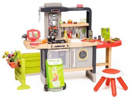 Játékkonyhák - Étterem elektronikus konyhával Chef Corner Restaurant Smoby előkerttel és bevásárlótáskával