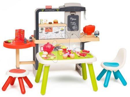 Játékkonyhák - Étterem elektronikus konyhával Chef Corner Restaurant Smoby étkezősarokkal