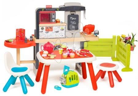 Játékkonyhák - Étterem elektronikus konyhával Chef Corner Restaurant Smoby kerti pihenősarokkal