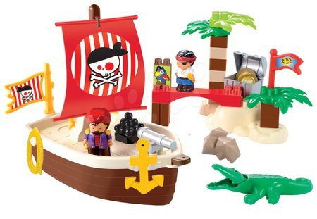 3179 a ecoiffier stavebnica piratska lod