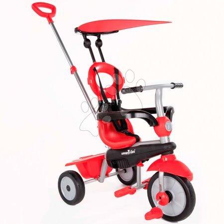 smarTrike - Trojkolka Zoom Red 4in1 smarTrike Touch Steering červená s gumenými kolesami a tlmičom na kolese od 10 mes