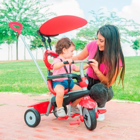 smarTrike - Trojkolka Zoom Red 4in1 smarTrike Touch Steering červená s gumenými kolesami a tlmičom na kolese od 10 mes_1